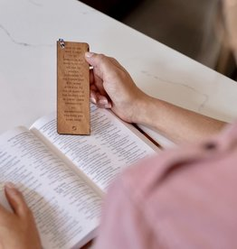Wooden Bookmarks - Ephesians 3:20 Written Verse