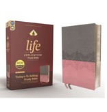 NIV, Life Application Study Bible, Third Edition, Leathersoft, Gray/Pink, Red Letter Edition