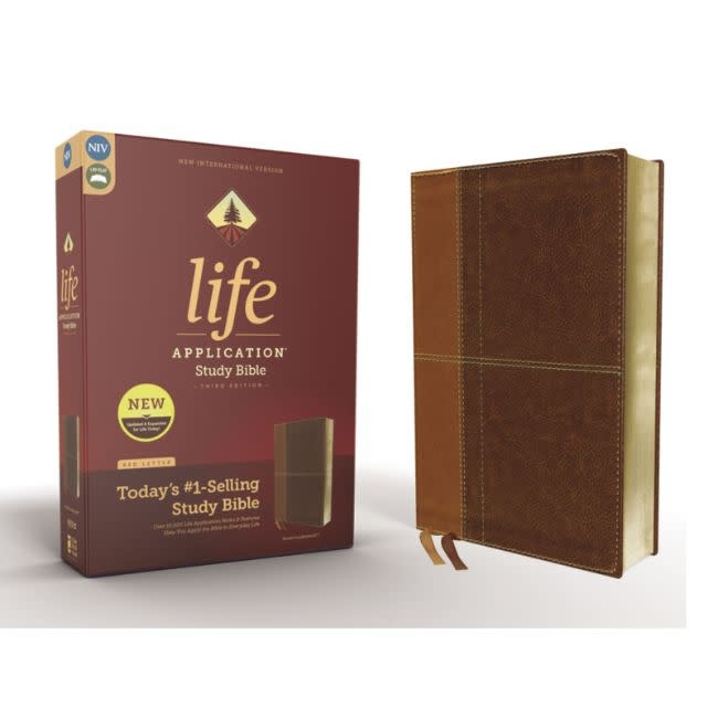 NIV, Life Application Study Bible, Third Edition, Leathersoft, Brown, Red Letter Edition