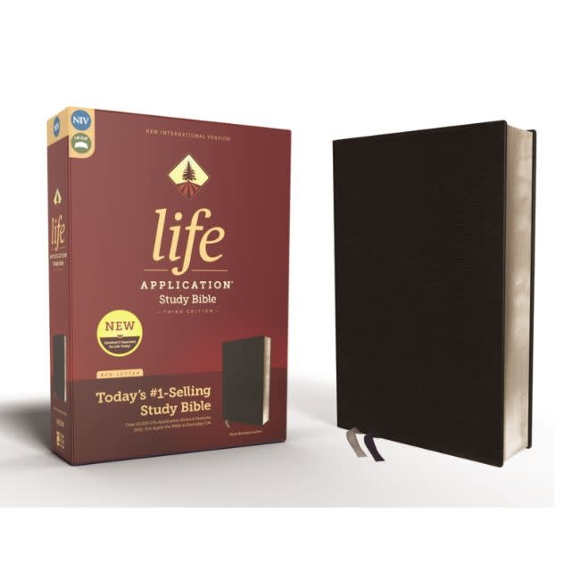 NIV, Life Application Study Bible, Third Edition, Bonded Leather, Black, Red Letter Edition