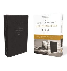 KJV, Charles F. Stanley Life Principles Bible, 2nd Edition, Leathersoft, Black, Comfort Print