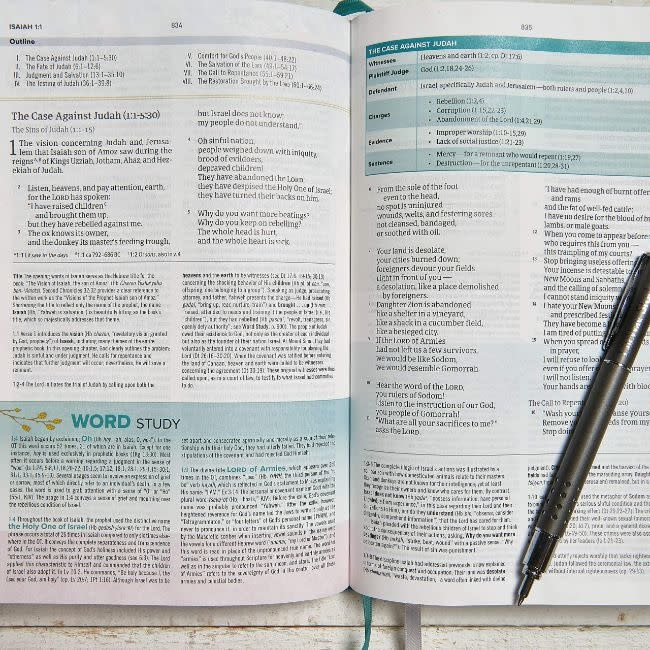 HCSB Study Bible For Women - Teal Leather