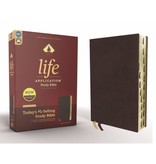 NIV, Life Application Study Bible, Third Edition, Bonded Leather, Burgundy, Indexed, Red Letter Edition