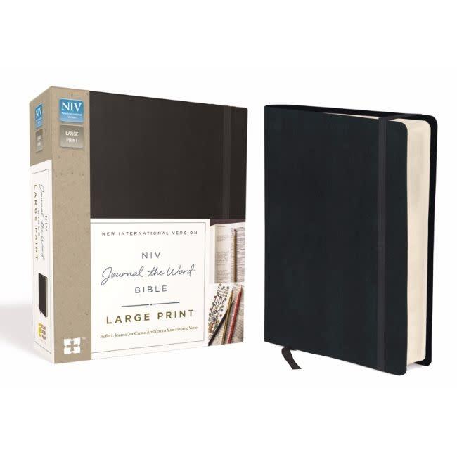 NIV Journal The Word Bible Large Print - Black