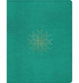 ESV Single Column Journaling Bible TruTone®, Teal, Resplendent Cross Design