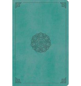 ESV Value Compact Bible - TruTone, Turquoise, Emblem Design