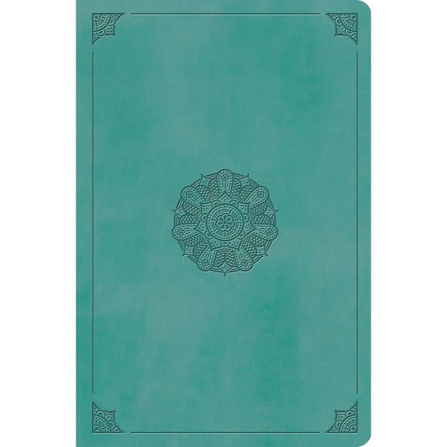ESV Value Compact Bible - TruTone, Turquoise, Emblem Design