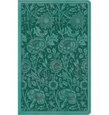 ESV Premium Gift Bible - TruTone, Teal, Floral Design