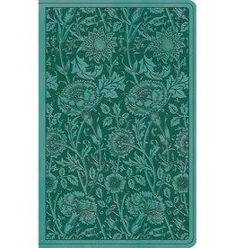 ESV Premium Gift Bible - TruTone®, Teal, Floral Design