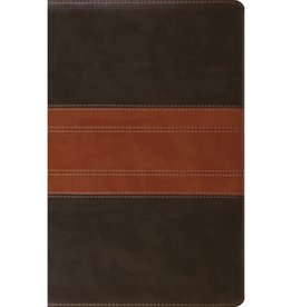 ESV Large Print Thinline Reference Bible - Forest/Tan