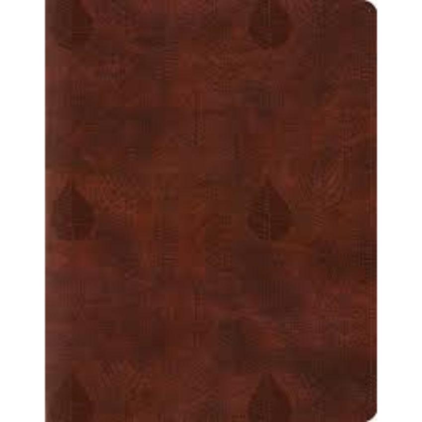 ESV Single Column Journaling Bible - TruTone, Chestnut, Leaves Design