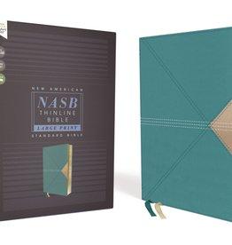 NASB, Thinline Bible, Large Print, Leathersoft, Teal, Comfort Print