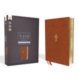 NASB, Thinline Bible, Giant Print, Leathersoft, Brown, Comfort Print