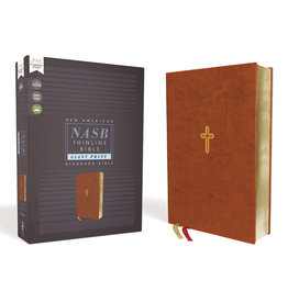 NASB, Thinline Bible, Giant Print, Leathersoft, Brown, Comfort Print