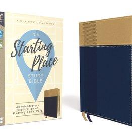 NIV Starting Place Study Bible - Navy/Tan