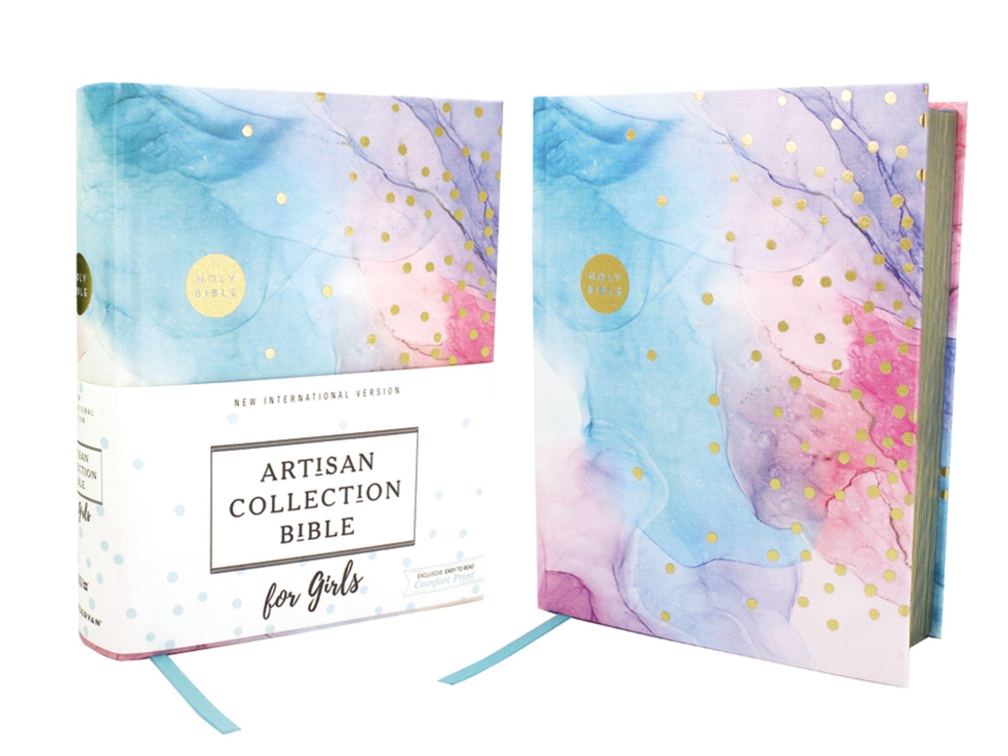 NIV Artisan Collection Bible for Girls - Multi Color