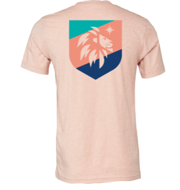 SEACOAST MUSIC Peach Shield Seacoast Music Logo Shirt