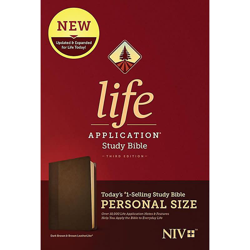 Personal Size NIV Life Application Study Bible - Brown