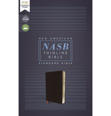 NASB, Thinline Bible, Bonded Leather, Black, Comfort Print