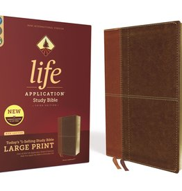 NIV Life Application Study Bible, Third Edition, Large Print, Leathersoft, Brown