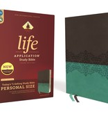 ZONDERVAN NIV Life Application Study Bible, Third Edition, Personal Size, Leathersoft, Gray and Teal, Indexed