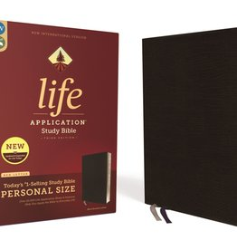 NIV Life Application Study Bible, Third Edition, Personal Size, Bonded Leather, Black