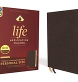 Personal Size NIV Life Application Study Bible - Burgundy