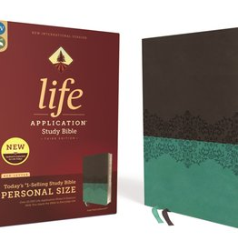 Personal Size NIV Life Application Study Bible - Gray/Teal