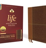 Personal Size NIV Life Application Study Bible - Brown Indexed