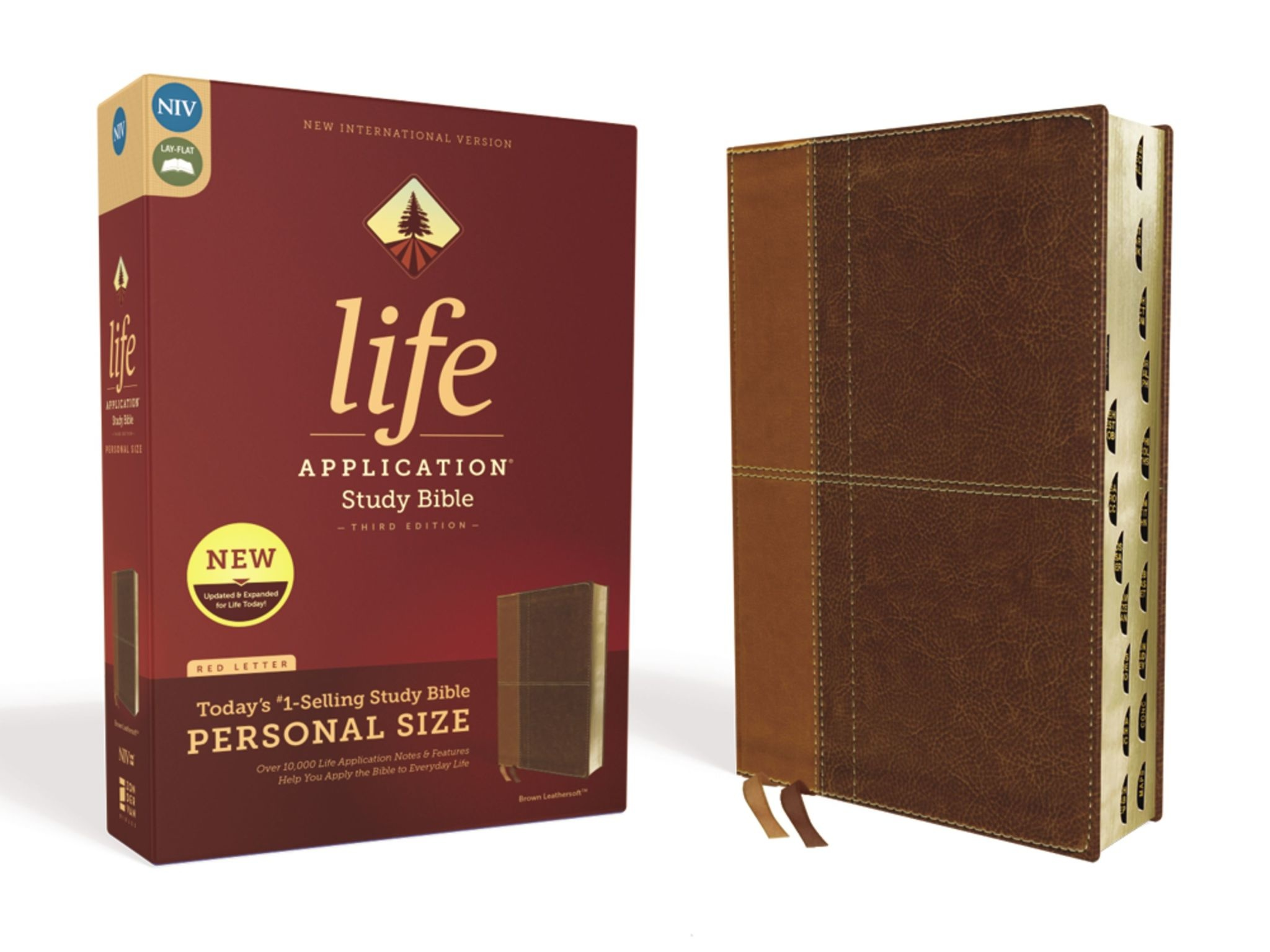 ZONDERVAN Personal Size NIV Life Application Study Bible - Brown Indexed