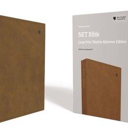 NET Large Print Thinline Reference Bible - Tan