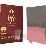 NIV Life Application Study Bible - Gray/Pink