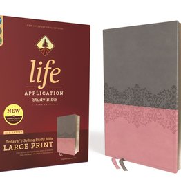 ZONDERVAN NIV Life Application Study Bible - Gray/Pink
