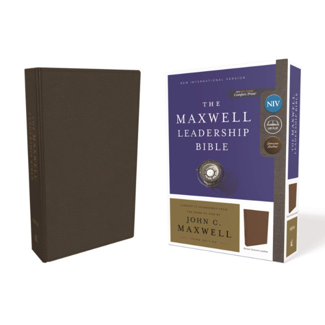 The Maxwell Leadership Bible NIV - Brown Leather