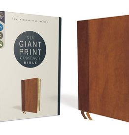 ZONDERVAN NIV Giant Print Compact Bible Brown