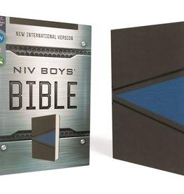 NIV, Boys Bible, Leathersoft, Gray/Blue, Comfort Print