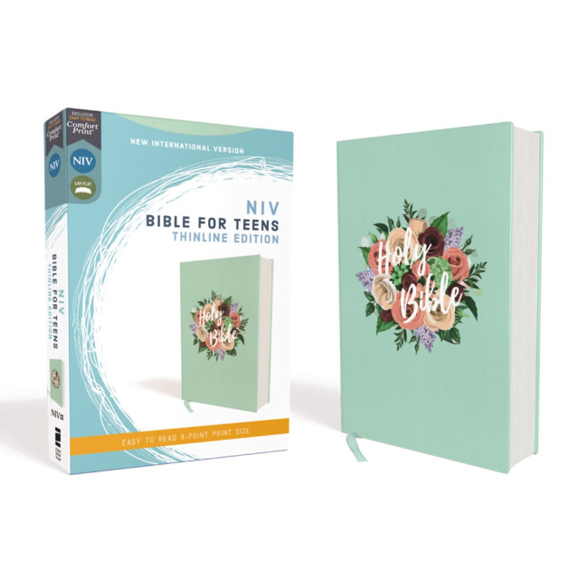 NIV Bible For Teens Thinline Edition - Cloth Over Board, Floral