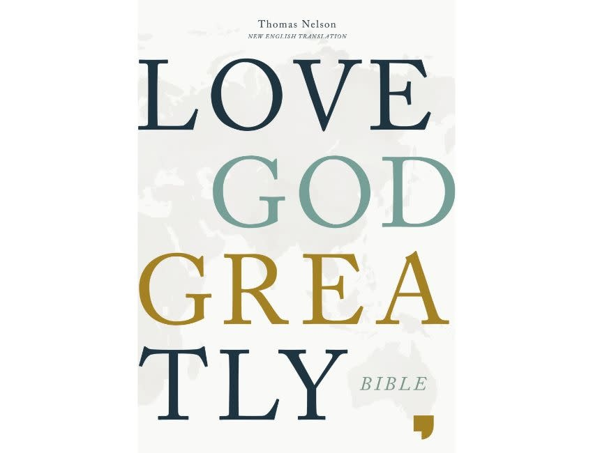 NET, Love God Greatly Bible, Hardcover, Green, Comfort Print