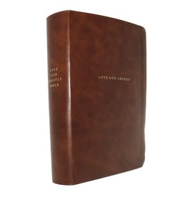 NET, Love God Greatly Bible, Leathersoft, Brown, Comfort Print