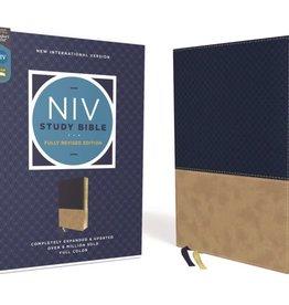 NIV Study Bible Fully Revised Edition Navy/Tan
