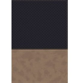 NIV Study Bible, Fully Revised Edition, Leathersoft, Navy/Tan, Red Letter, Thumb Indexed, Comfort Print