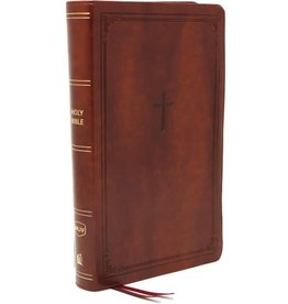 NKJV Compact Reference Bible - Brown