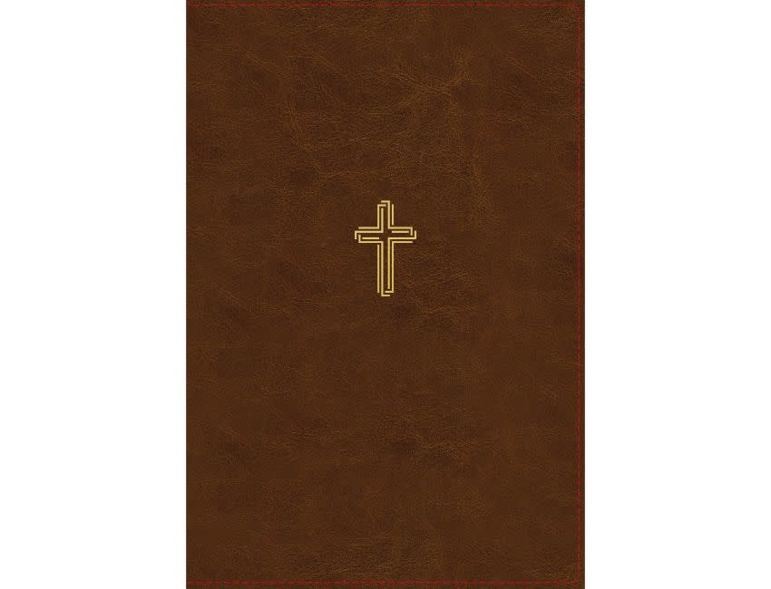 NASB, Thinline Bible, Giant Print, Leathersoft, Brown, Red Letter Edition, 1995 Text, Thumb Indexed, Comfort Print