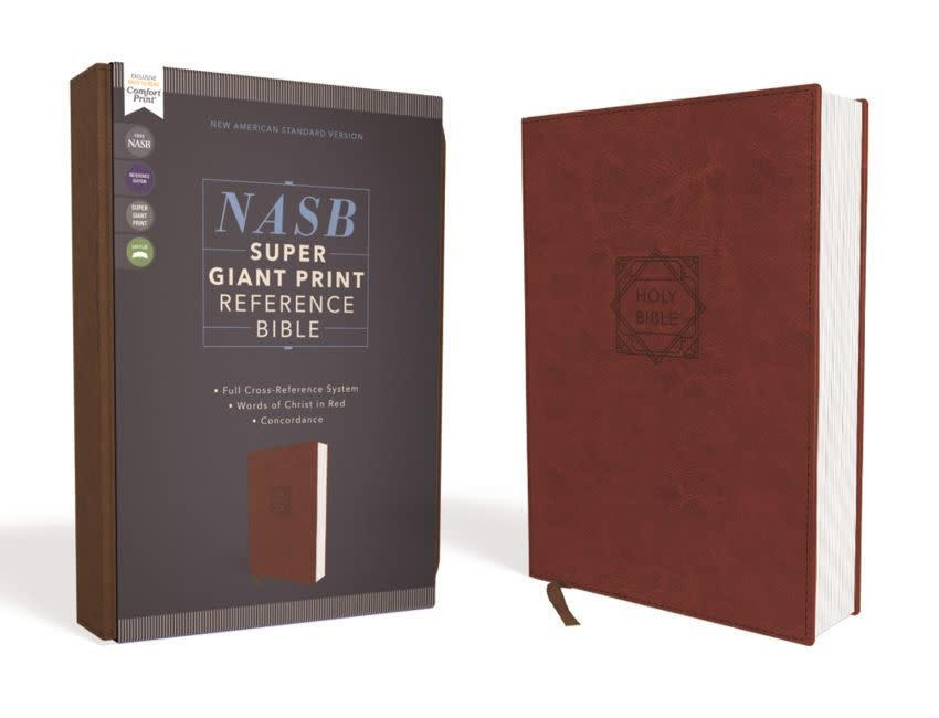 NASB Super Giant Print Reference Bible - Brown