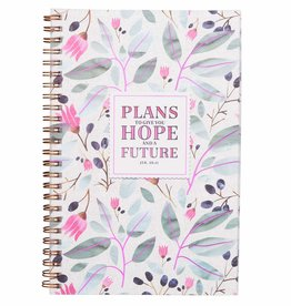CHRISTIAN ART GIFTS Plans To Give You Hope Wirebound Notebook - Jeremiah 29:11Journal Jer 29