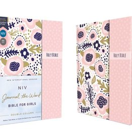 NIV, Journal the Word Bible for Girls, Double-Column, Hardcover, Pink, Magnetic Closure, Red Letter, Comfort Print