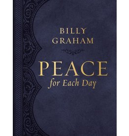 BILLY GRAHAM Peace for Each Day, Large Text Leathersoft