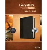 Every Man's Bible - NIV Large Print Onyx/Back Indexed
