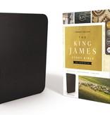 KJV, The King James Study Bible, Genuine Leather, Black, Full-Color Edition
