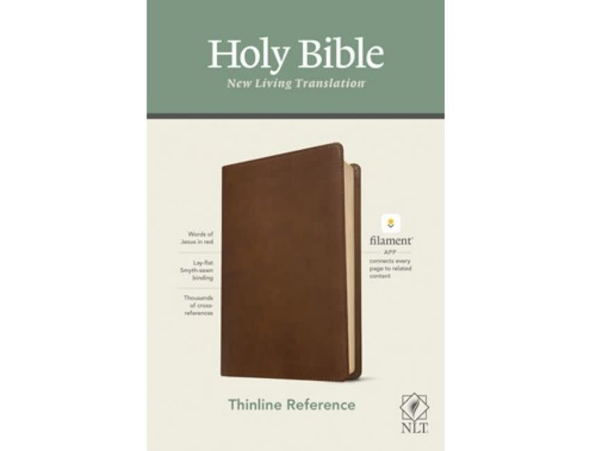 NLT Thinline Reference Bible, Filament Enable Edition - Rustic Brown